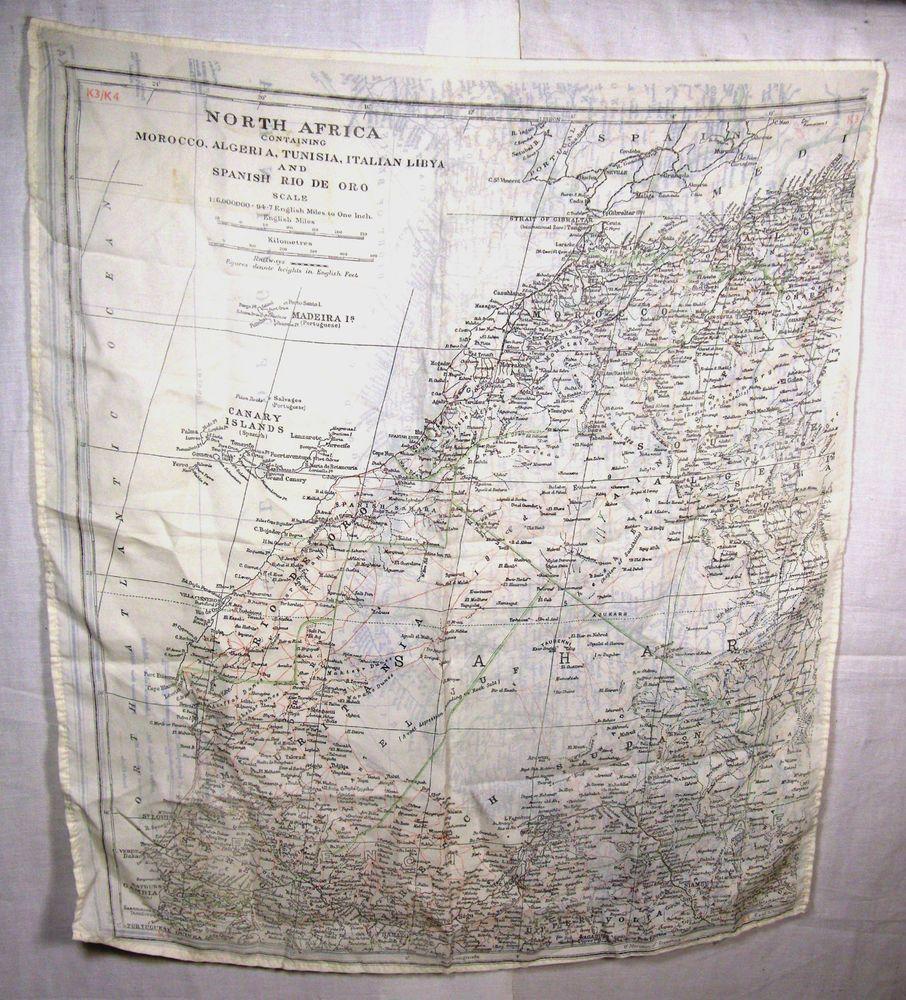 WW2 V RARE SILK ESCAPE MAP BARTHOLOMEW