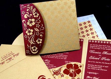 Custom Indian Wedding Invitations And Scroll