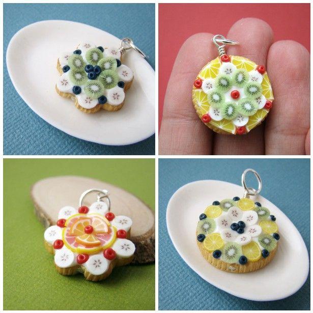 Miniature Food Jewelry - Bijoux Gourmands - Fruit Tart Pendant | Flickr – Condivisione di foto!