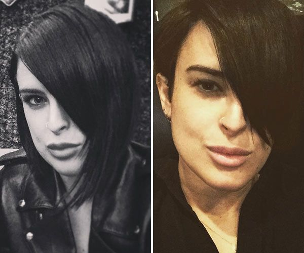 dramatic long hair cut short makeover by christopher rumer willis has made the chop the actress and dancing