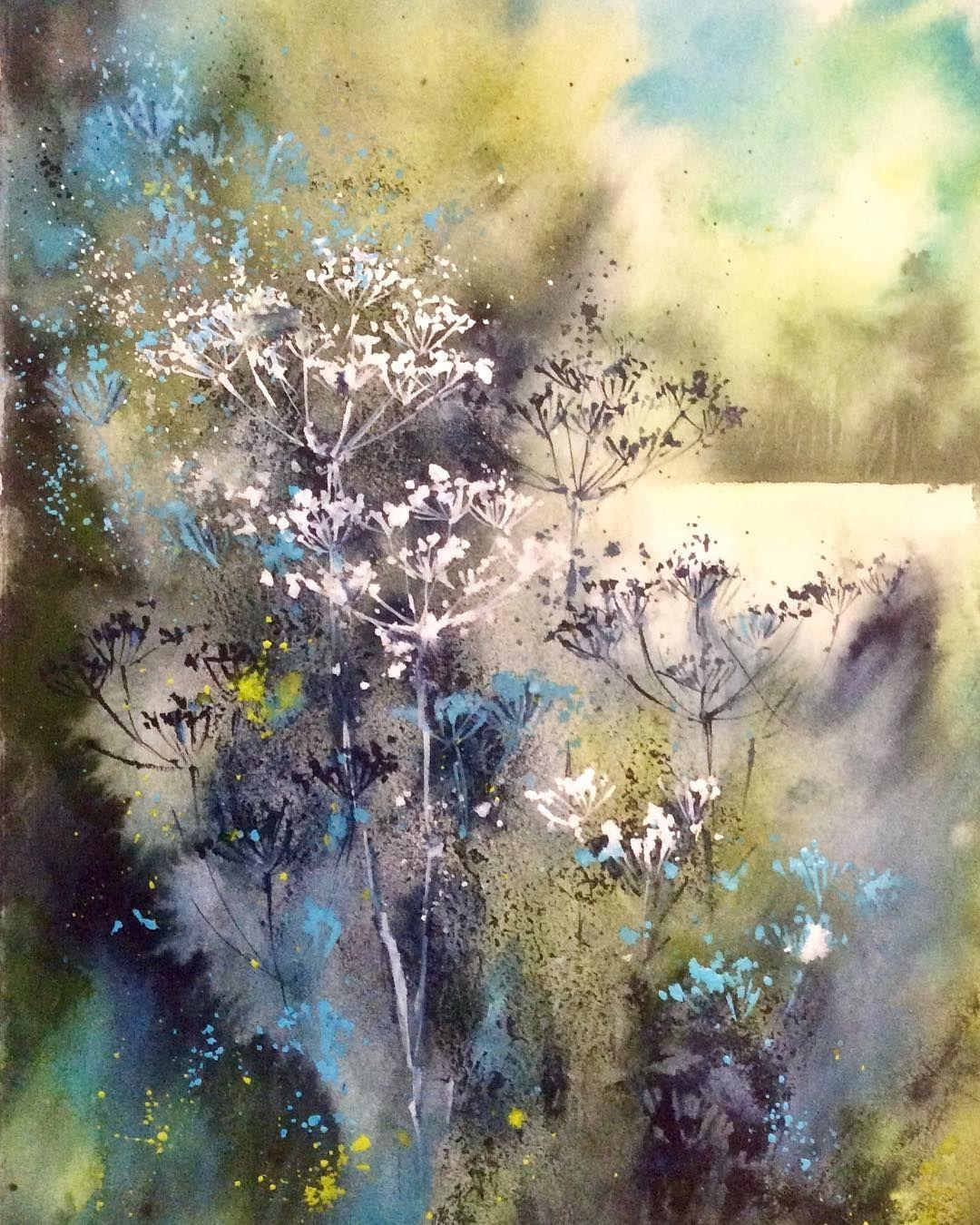 Jane Betteridge Watercolor Flowers Paintings Colorful Landscape