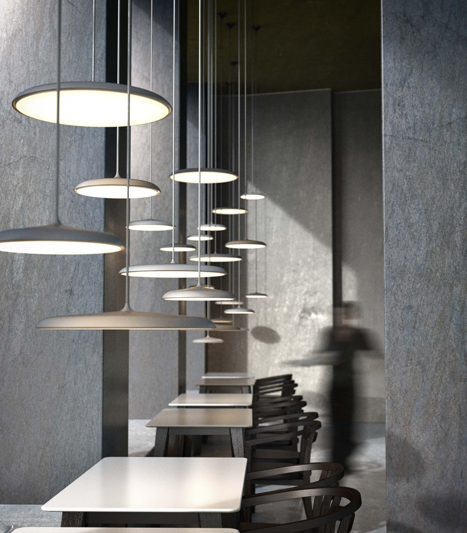 Artist | Pendant from Nordlux | Designed by Bønnelycke mdd | Nordic and Scandinavian style | Produced in grey metal with textile cord | Light | Decoration | Designed in Denmark
