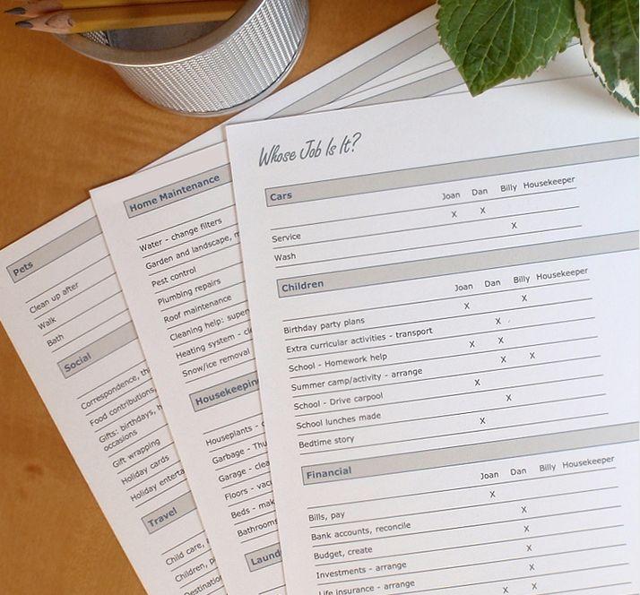 Habitudes Online Family Organizer  Household Management Software - chore chart online