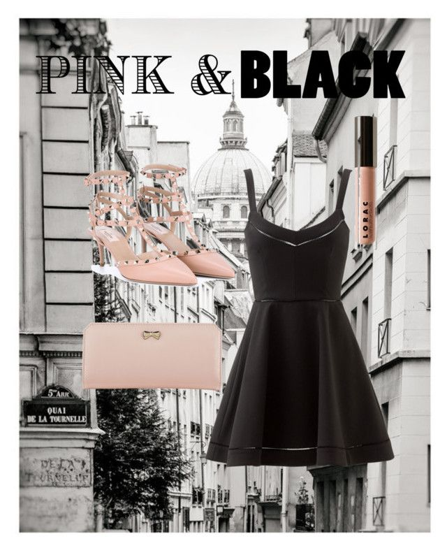 """""""Pink&Black"""" by kitkat-1414 ❤ liked on Polyvore featuring moda, Valentino, Elizabeth and James, LORAC i Zodaca"""