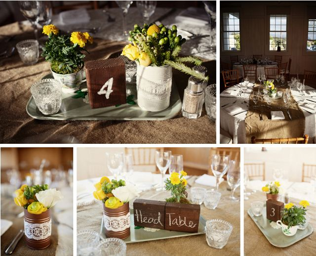 Fall rustic themed wedding decor - photo by Ruth Anne Photography