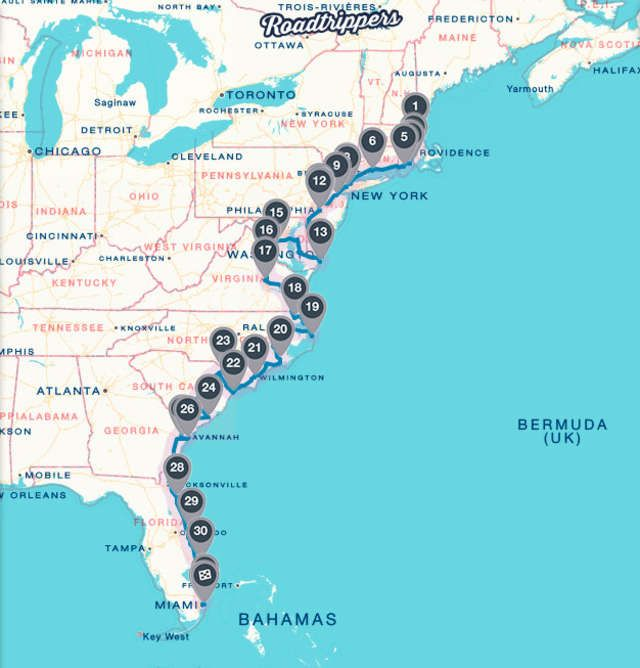 Florida Road Map East Coast.The Ultimate Atlantic Coast Road Trip Places To Go People To See