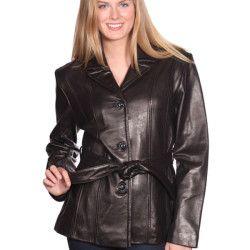 Cute leather jackets women belt black | Womens Winter Fashion 2017 ...