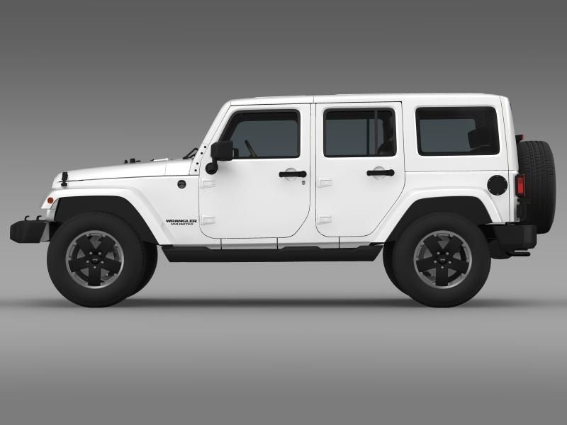 Jeep Wrangler Unlimited Altitude 3d Model Jeep Wrangler