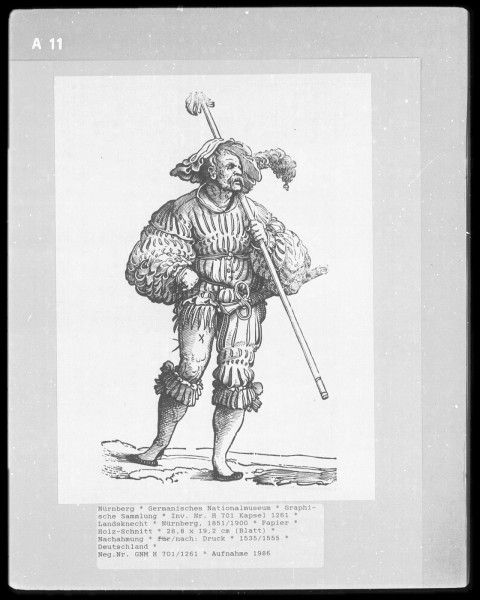 Landsknecht Woodcuts   Germanisches Nationalmuseum plate A11