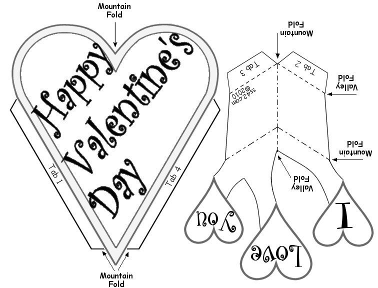 Vday Car Instructions Pop Up Card Templates Heart Pop Up Card Valentine Template