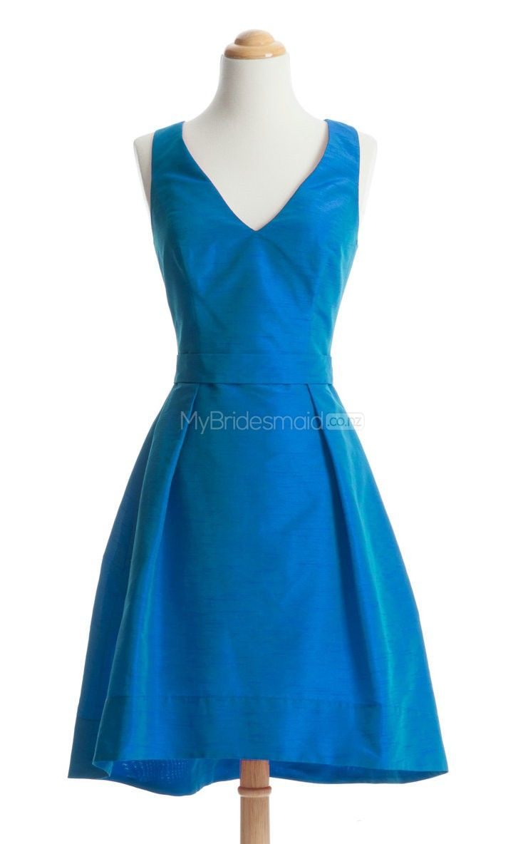 Lovely ocean blue short bridesmaid dressshort bridesmaid dresses