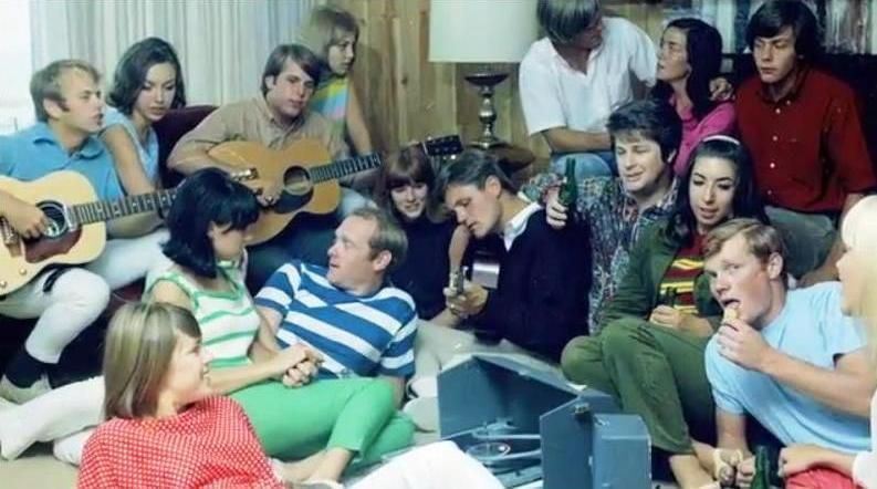 Beach Boys Party LP Session Not Sure Who Everyone Is On Left Couch