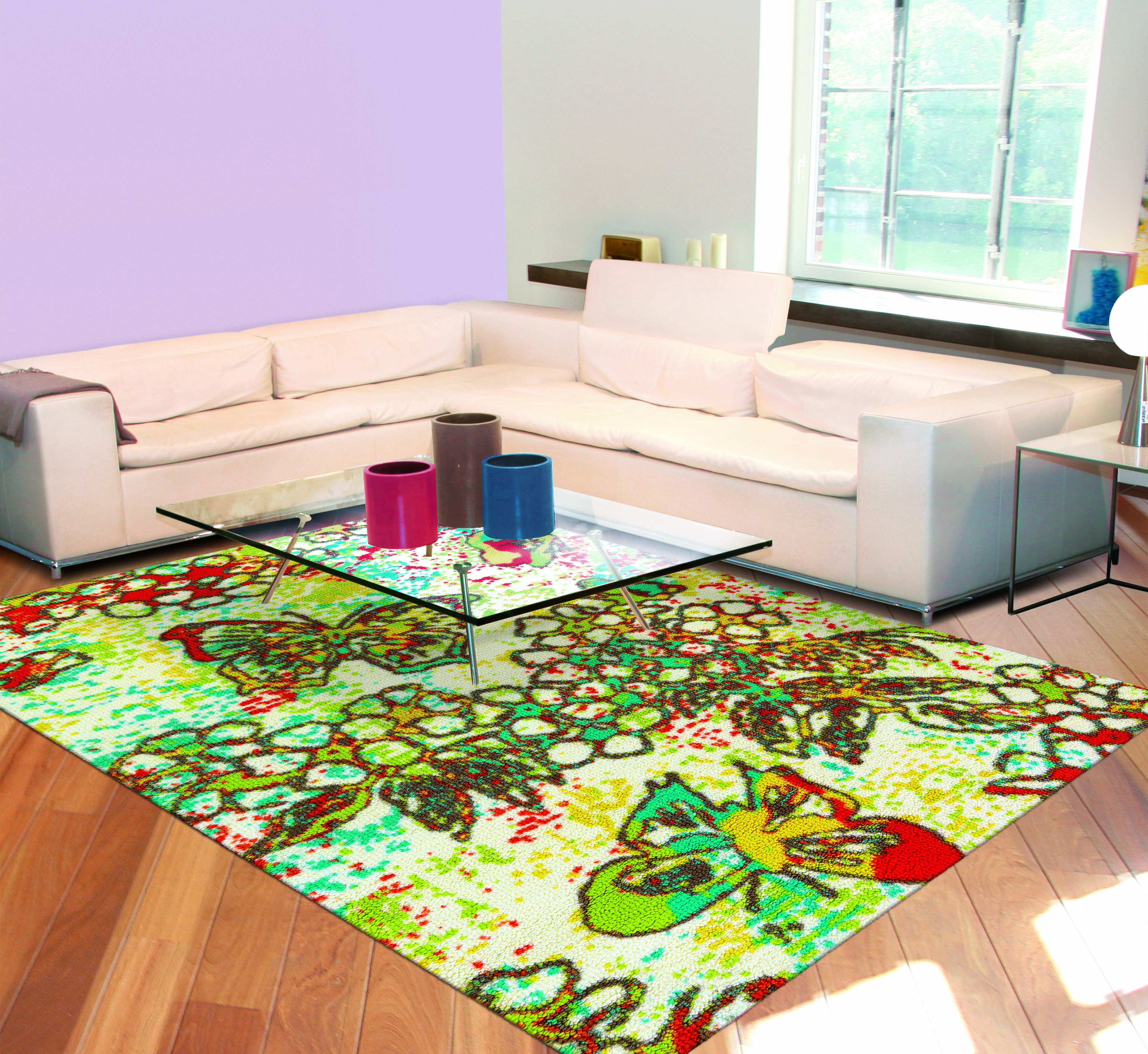A Lovely And Colorful Butterfly Rug Inspired By Nature And Fills