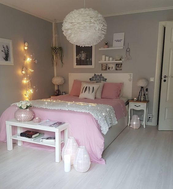 Teen Bedroom for Girls 25+ Stylish Inspiration You'll Adore is part of Pink living room decor - Stylish and fun, those two words perfectly describe how a teen bedroom should be  It has to look as attractive as possible with an exhilarating vibe that will make you