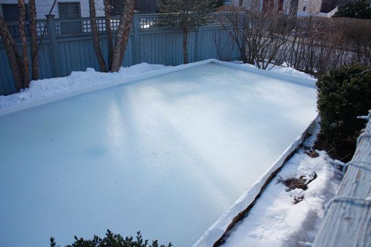 How To Build an Ice Rink in Your Yard | Ice rink, Backyard ...