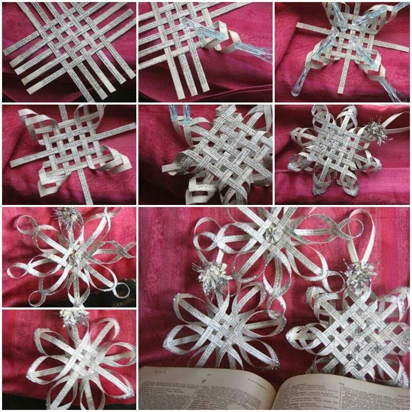 Woven paper snowflakes (With images) Diy christmas