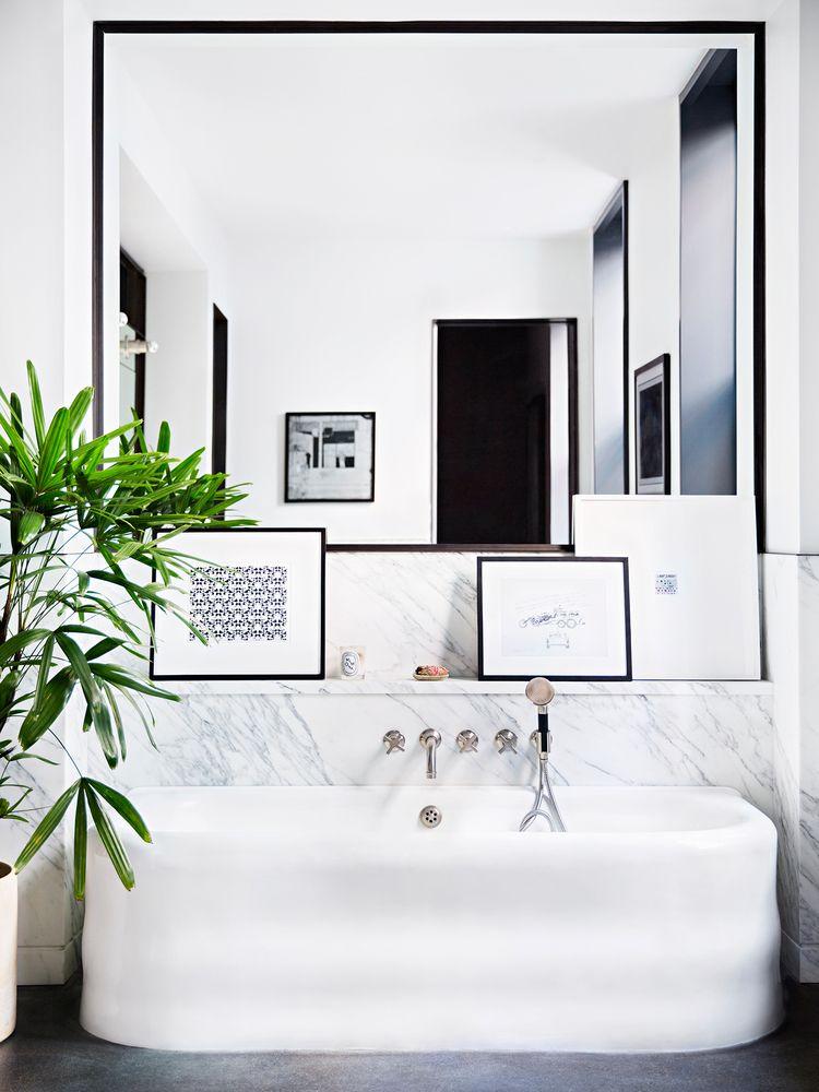Black Framed Bathroom Mirrors interior designgachot studios | the new york times | interiors