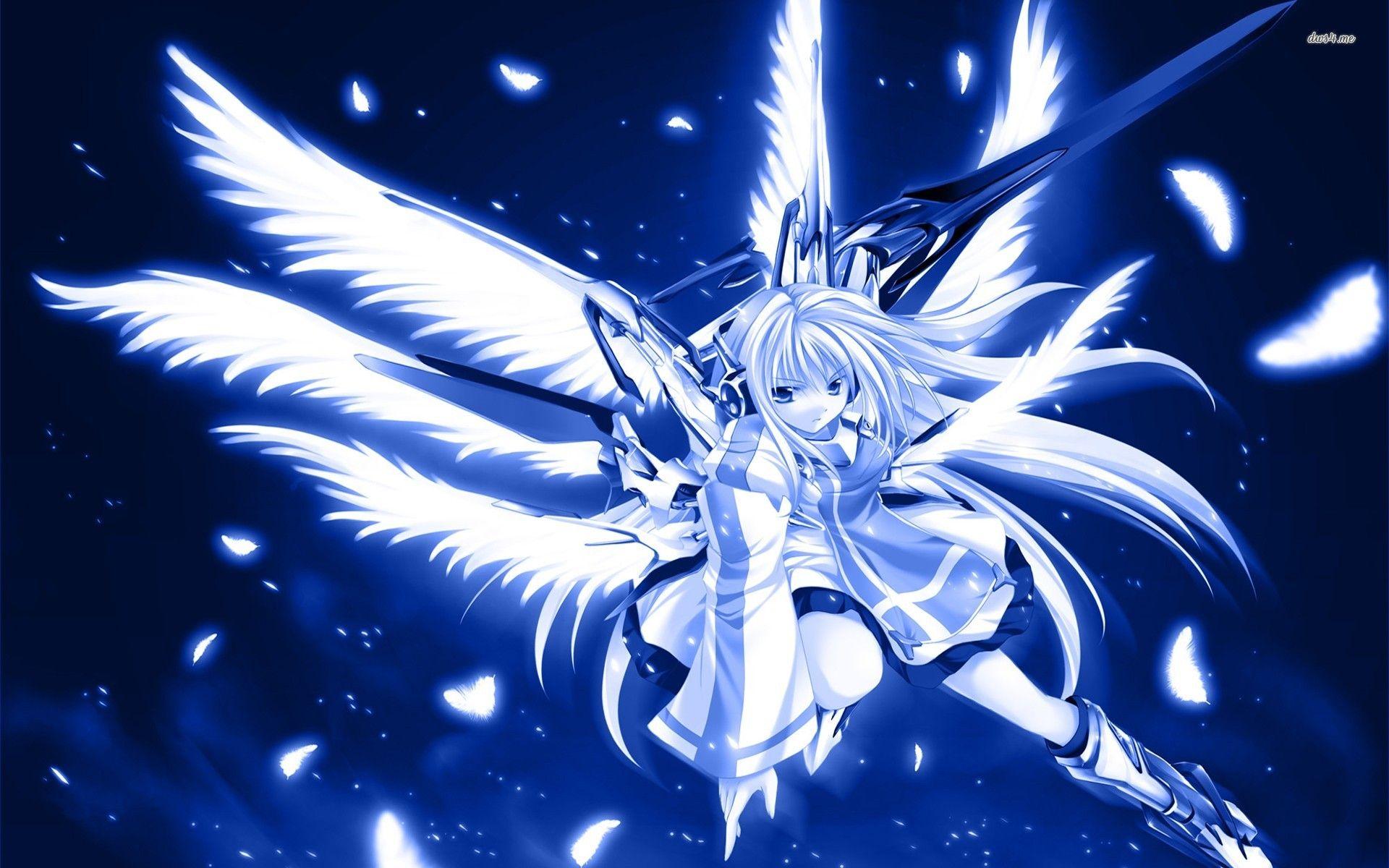 Blue Warrior Angel 19x10 Anime Wallpaper Jpg 19 10 Angel Wallpaper Blue Anime Warriors Wallpaper