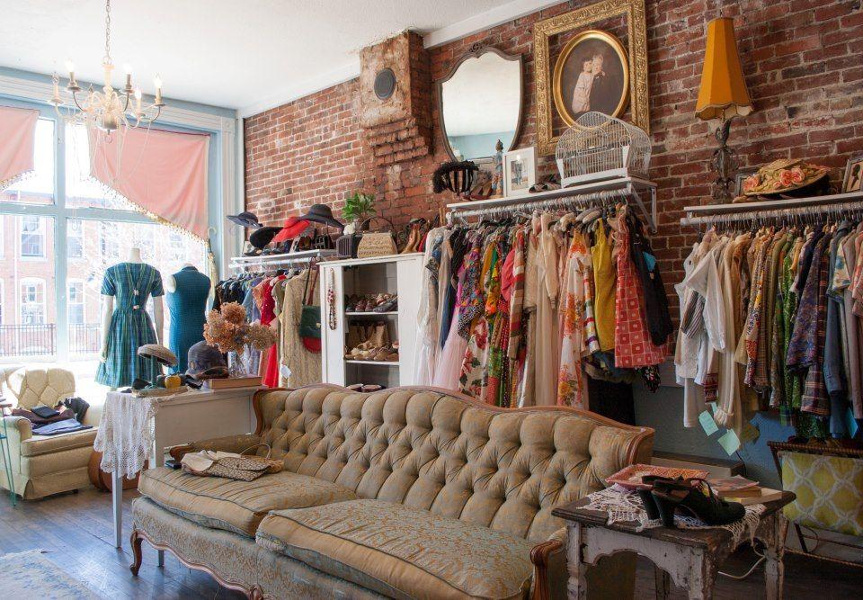 Concetta S Closet A Brick And Mortar Etsy Shop Vintage Clothes In A Vintage Setting Shop Interior Shop Interiors Vintage Clothes Shop