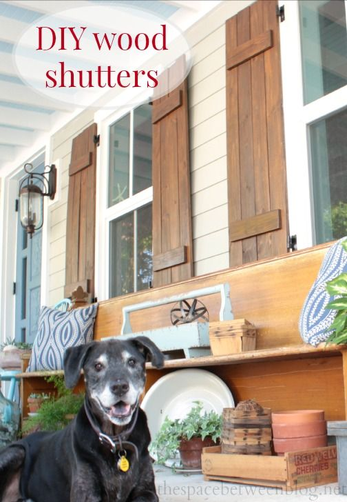 Details for making diy wood shutters and other great - Exterior wooden shutters for windows ...
