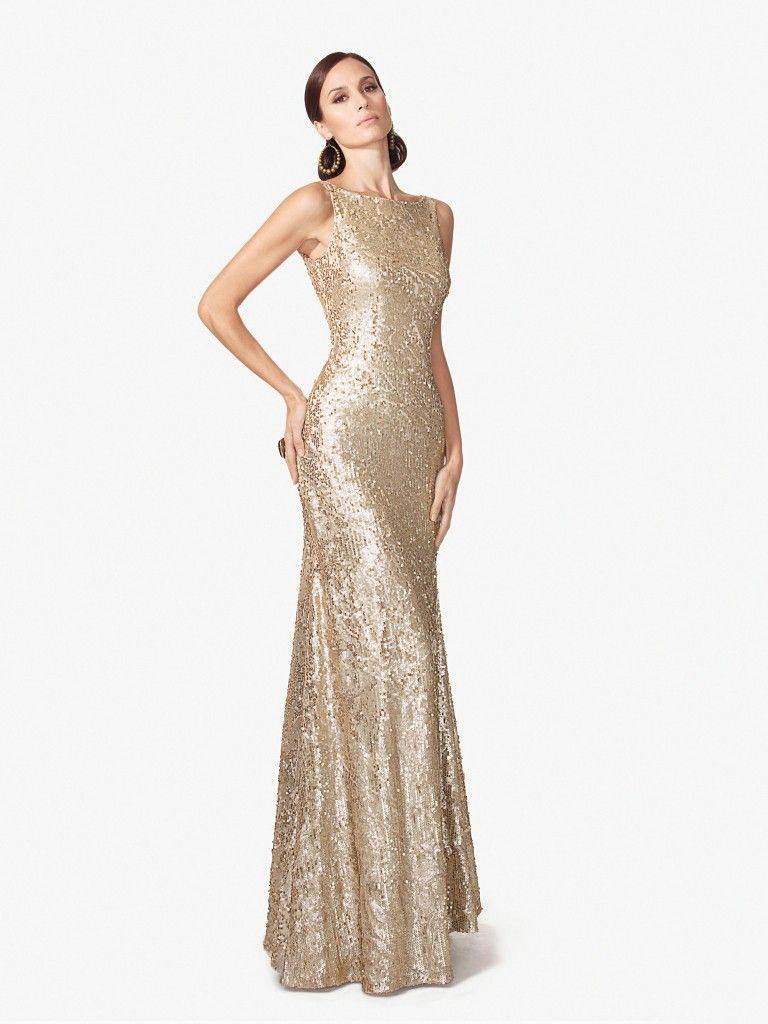 Gold Floor Length Dresses