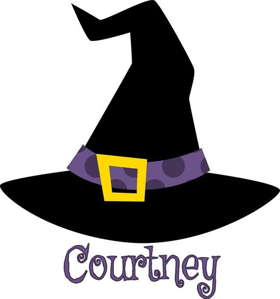 Halloween Witch Hat Personalized Iron On By Designsbybrinley 2 50 Halloween Clipart Halloween Silhouettes Halloween Witch