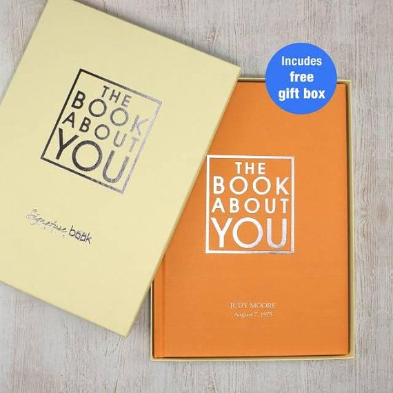 Personalized Gift Book Of You Books Gifts Birthday Year Anniversary