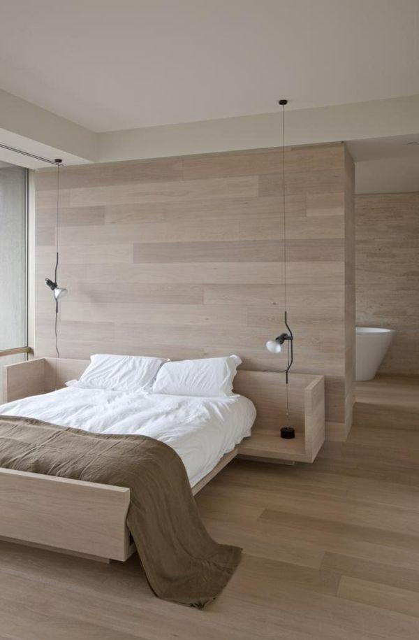 Schlafzimmer Mit Holzboden In Schöner Farbe