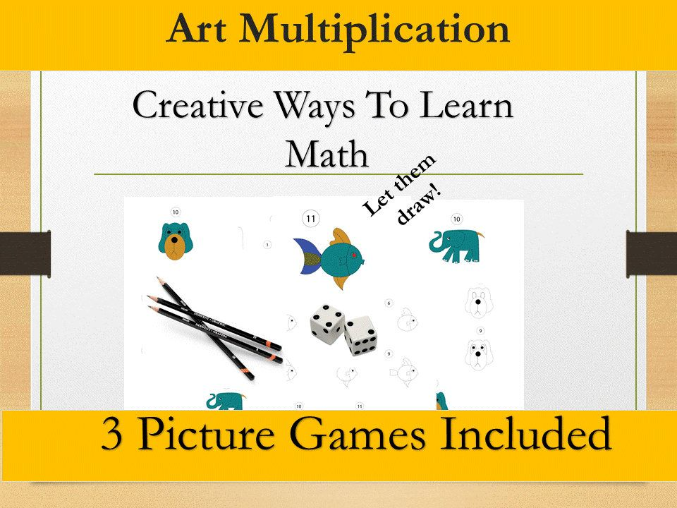 Multiplication Drawing Game Printable/Grade 3,4,5,6/ Year 4,5,6 ...