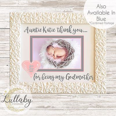 Personalised Thank you Godparent(s) Godfather Godmother Christening ...