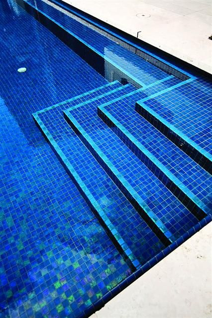 Blue Iridescent Bathroom