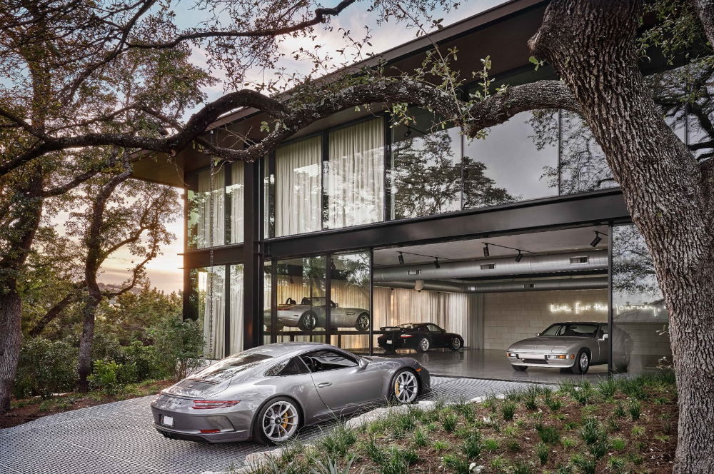 This Shady Oasis Is A Garden Garage And Office All Rolled Into One In 2020 Luxury Car Garage Dream Garage Luxury Garage