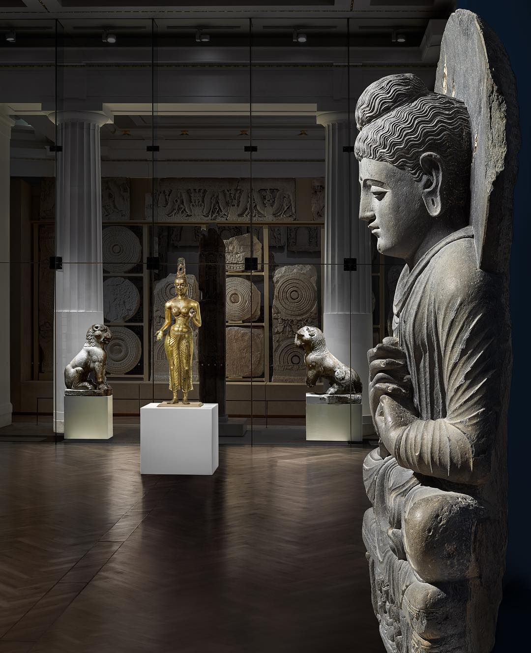 British Museum On Instagram This Statue Of The Buddha Was Made In The 2nd 3rd Century In Gandhara A Historical Region Coverin Buddha Statue Buddha Wall Art