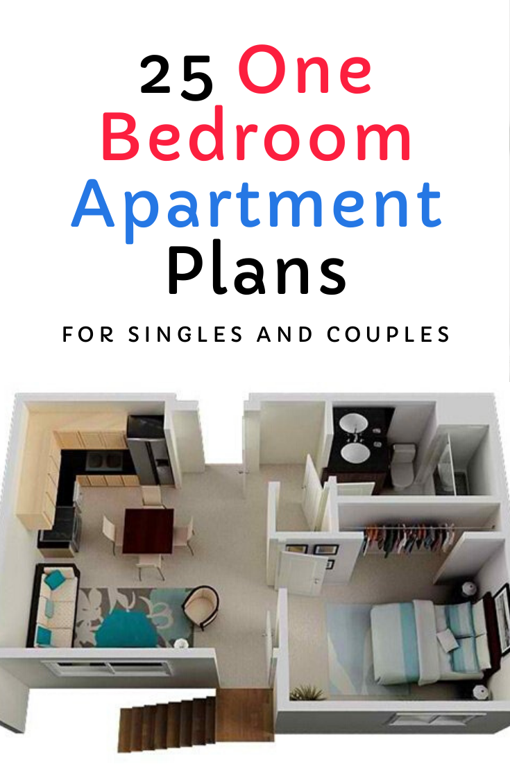 25 One Bedroom Apartment Plans For Singles And Couples Minimalist Apartment Decor Apartment Simple Apartments