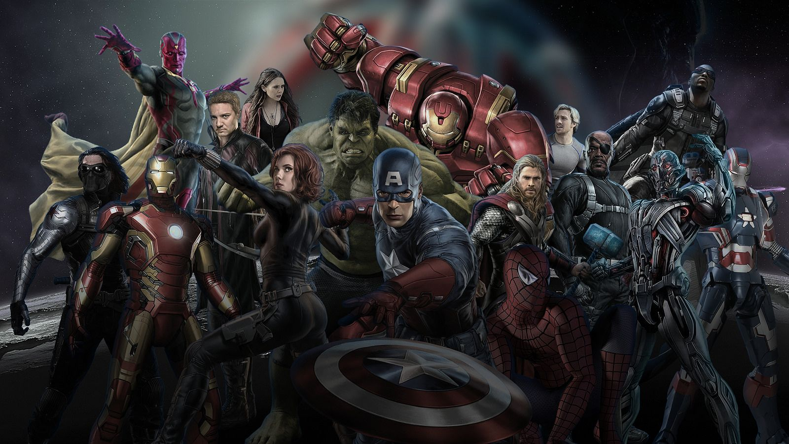 Avengers: Age of Ultron - Wallpaper (with Spider Man ...