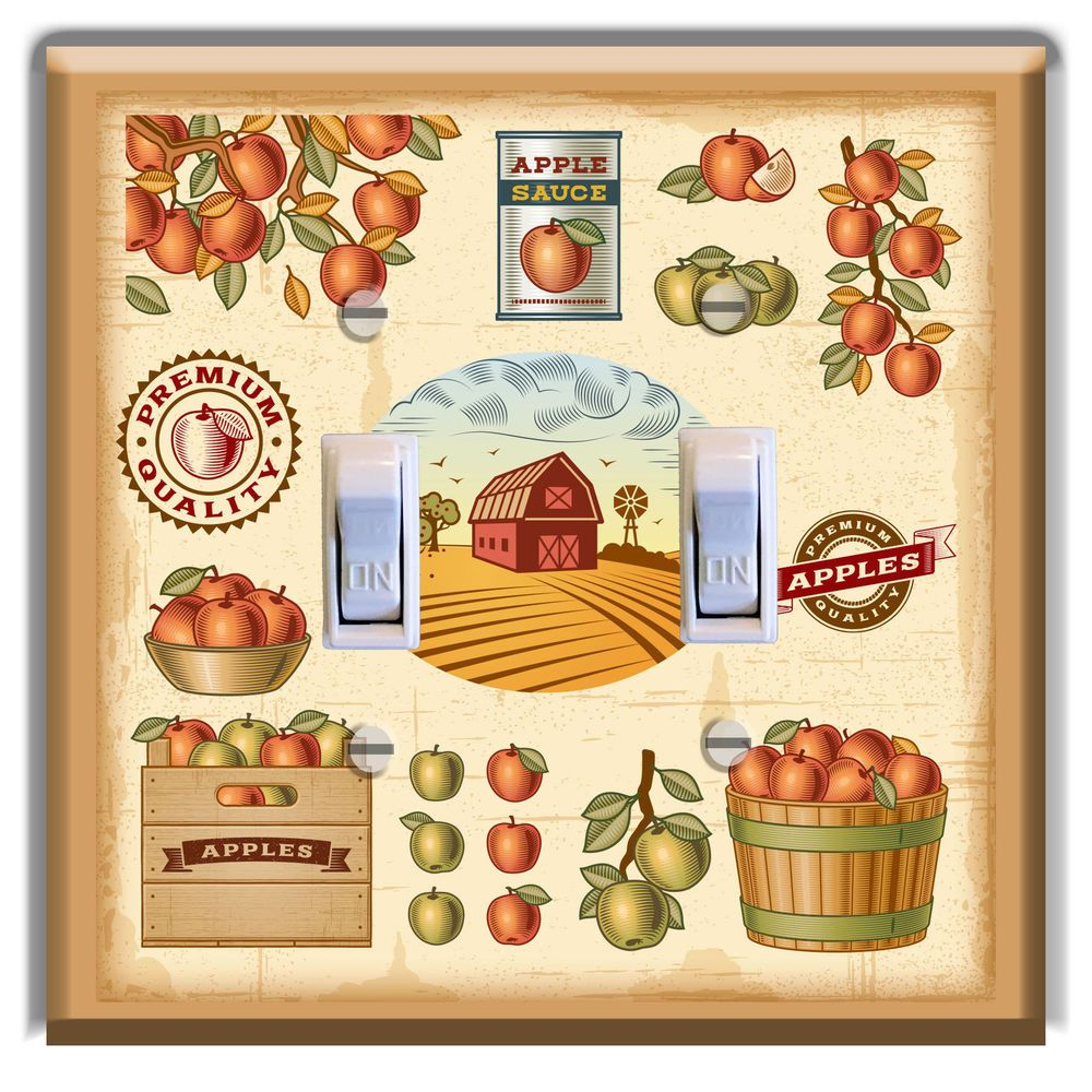 Modern Apple Wall Decor For Kitchen Crest - Gallery Wall Art ...