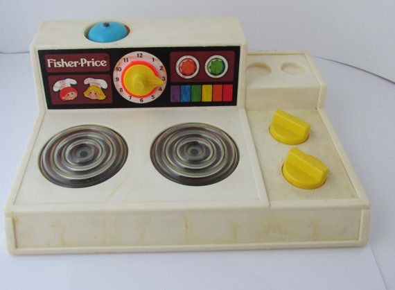 Fisher Price Küche | Fisher Price Stove Stovetop Toy Vintage 1978 Toy Kitchen Toys