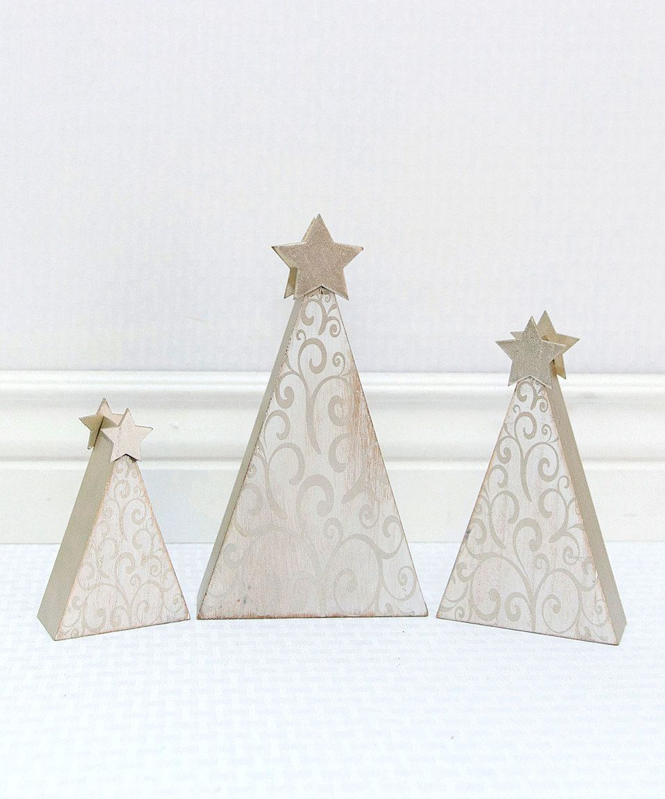 Look at this #zulilyfind! Star-Top Graduated Christmas Tree Décor Set by Adams & Co. #zulilyfinds