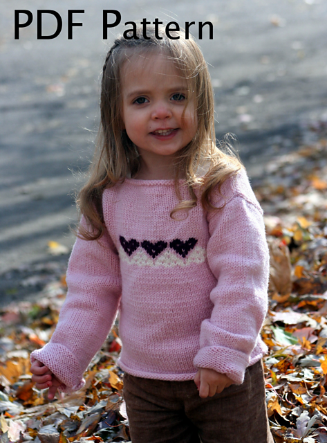 Ravelry: Pink Heart Baby Sweater pattern by Joan Laws