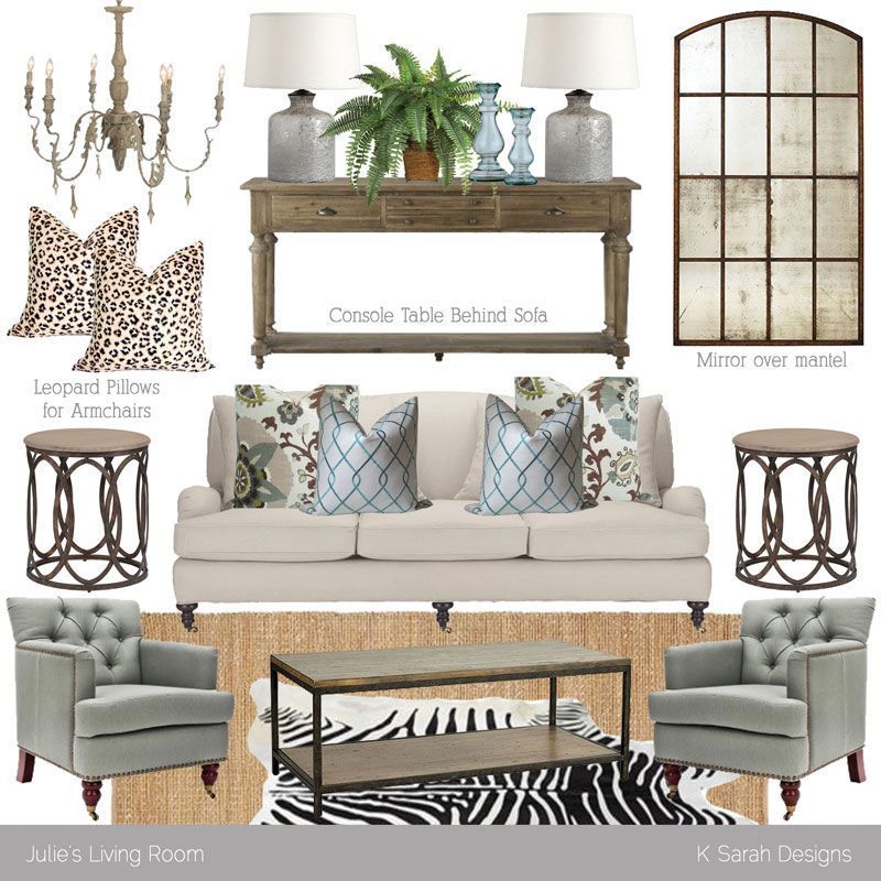 Mood Board Neutral Rustic Glam Living Room K Sarah