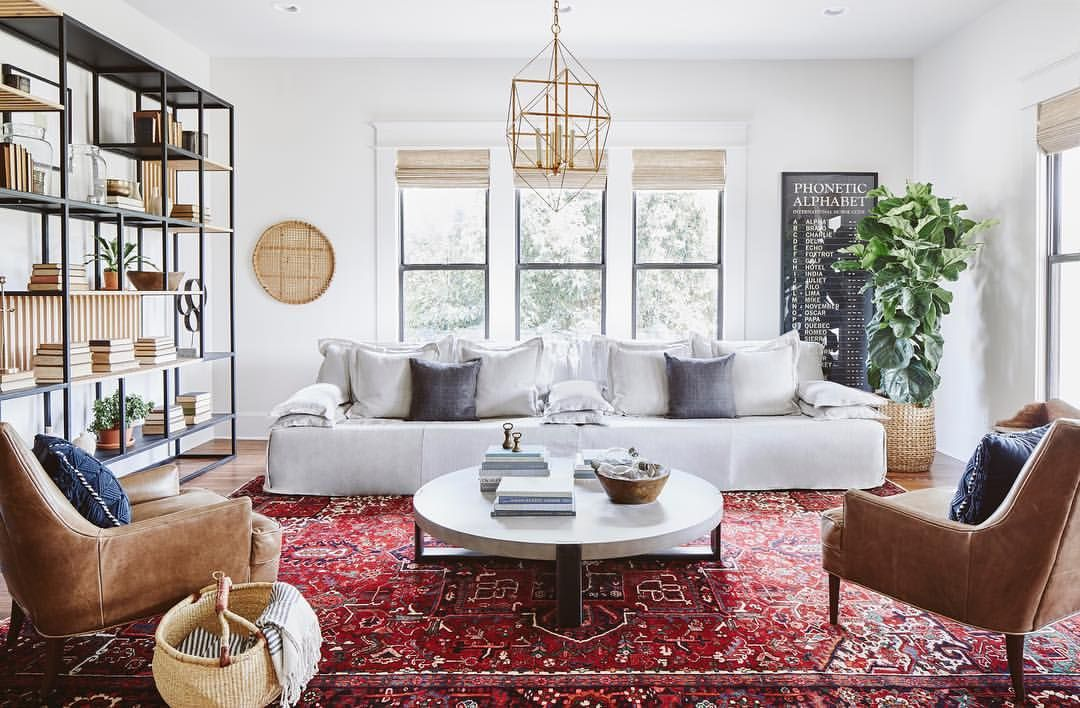 Our Clients Asked For A Moroccan Scandinavian Style Farmhouse In Tonight S Fixe Joanna Gaines Living Room Farm House Living Room Modern Farmhouse Living Room