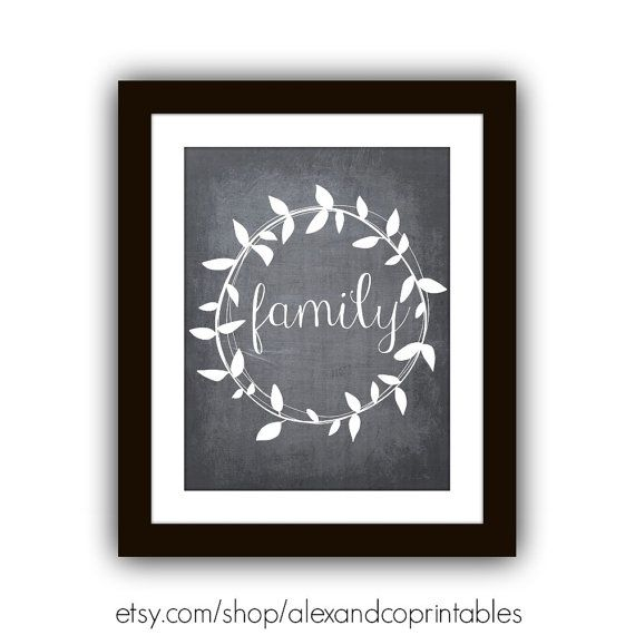 FAMILY CHALKBOARD PRINTABLE  Family by alexandcoprintables on Etsy, $5.00
