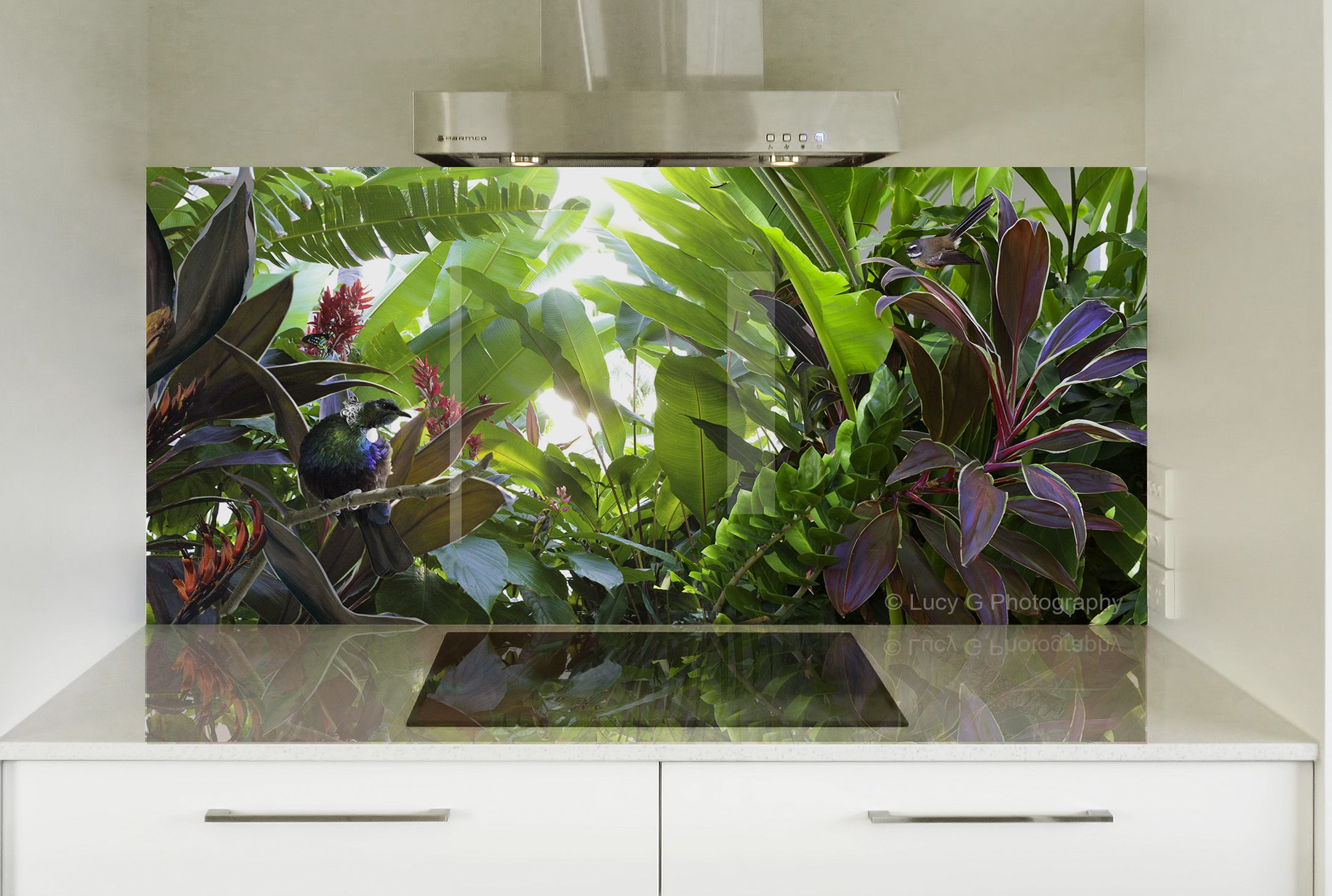 Image on glass splashback by lucygbold and bright this stunning