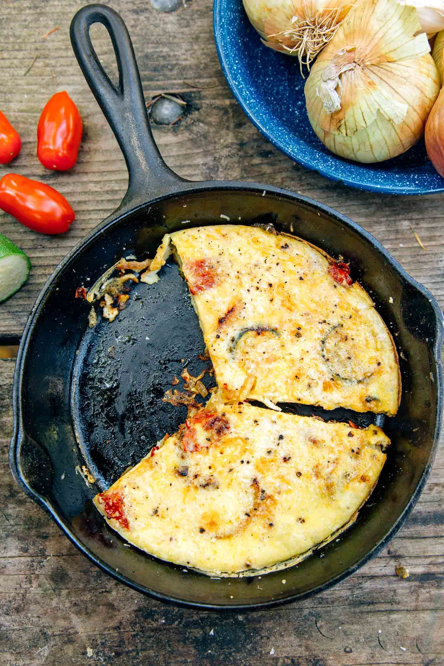 vegetable campfire frittata   recipe   yum!!!   camping meals, meals