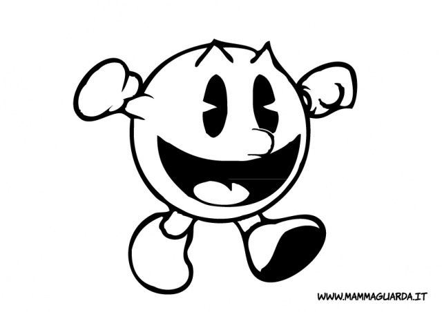 pacman printable coloring pages - photo#36