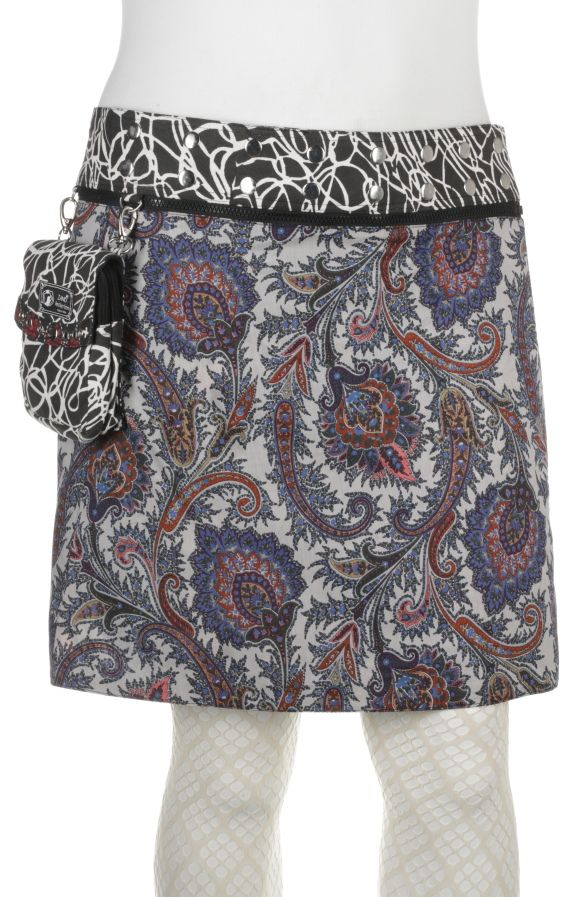 Isabel XL lange wikkelrok met buideltasje [IsabelXL-v2-27725] - €65,00 : Zand Amsterdam, Unique, colorfull, one-size-fits-all wrapskirts by Yaniv Shapira. Produced fair-trade in India.