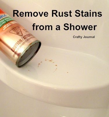 Remove Rust From The Shower Remove Rust Stains How To Remove