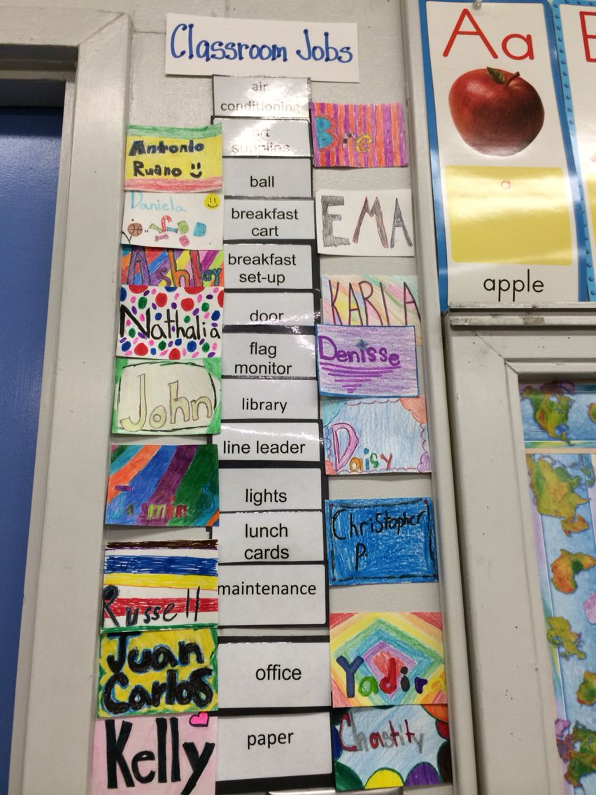 Classroom jobs board. A quick and easy way to organize