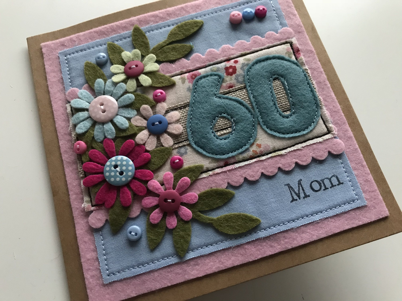 60th birthday card 60th birthday card mum 60th