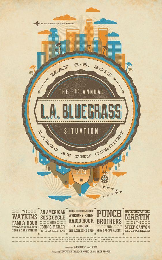bluegrass_situation_med — Designspiration #poster #graphism #design #affiche